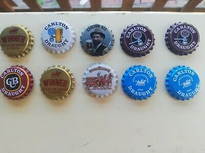 CARLTON DRAUGHT CLASSIC COLLECTABLE FRIDGE MAGNETS x 10 (as shown)