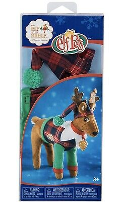 Elf On The Shelf ELF PETS Playful Reindeer Christmas Pajamas PJs Outfit & Hat