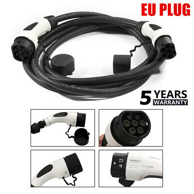 NEW Electric Vehicle Charger EV Charging Cable EU Plug For Chevy Volt Nissan BMW
