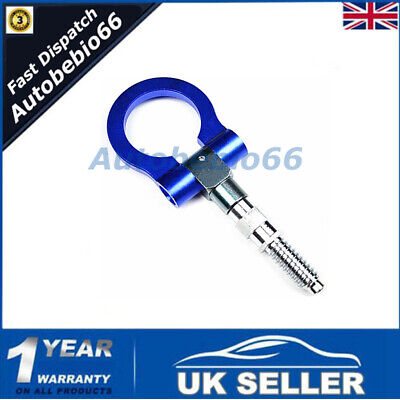 1X Blue Racing Tow Towing Hook for Universal BMW European Car Auto Trailer Ring