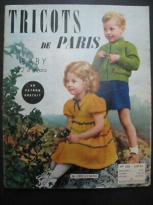 TRICOTS de PARIS – BABY (early 1950's issue) - Vintage French Knitting Patterns