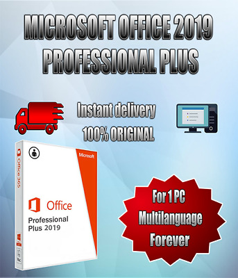 Microsoft Office 2019 Professional Plus - Product Key. Lifetime 32/64 Bit.