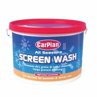 CarPlan All Seasons Concentrated Screen Wash Bucket High Power 72 Sachets SCL072