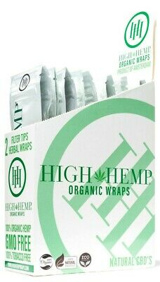 High Hemp Organic Wrap Full Box 25 Pouches, 2 Wraps per Pouch, 50 Wraps Original