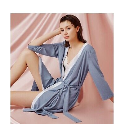 Bathrobe Femme Satin Silk Cotton Slip Viscose Lace Spandex Quality Sleepwears