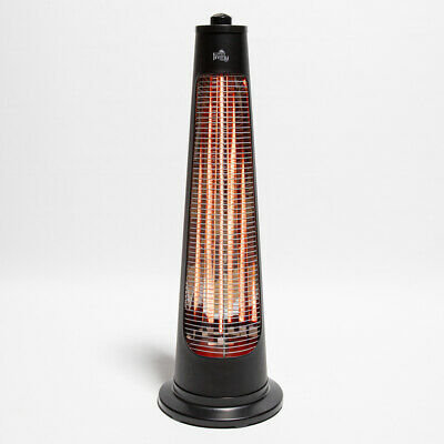Firefly Streamline Free Standing Electric Halogen Patio Heater Rotating Outdoor