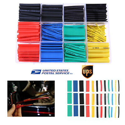 530Pcs 2:1 Heat Shrink Tubing Sleeving Car Electrical Assorted Wrap Cable Wire