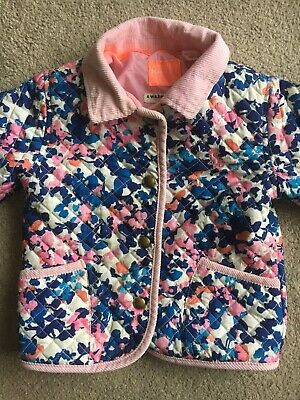 Joules Baby Girls Quilted Floral Jacket 18-24 Months Coat