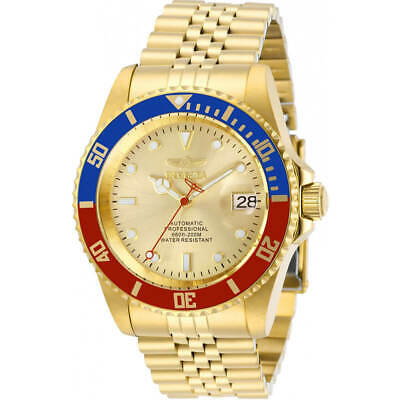 Invicta Men's Watch Pro Diver Automatic Gold Tone Dial Bracelet 29183