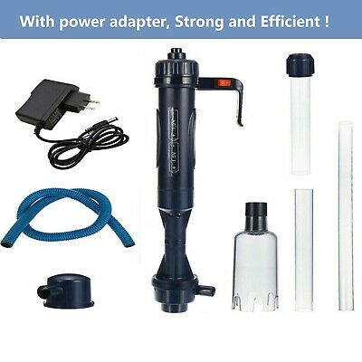 Electric Aquarium Cleaner Syphon Fish Tank Pump Vacuum Gravel Water Filter