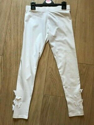 BNWT FROM NEXT Girls White Butterfly Applique leggings 11 years Summer Holidays
