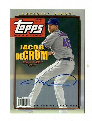JACOB deGROM MLB 2019 TOPPS ARCHIVES MAGAZINE AUTOGRAPH #/150 (NEW YORK METS)
