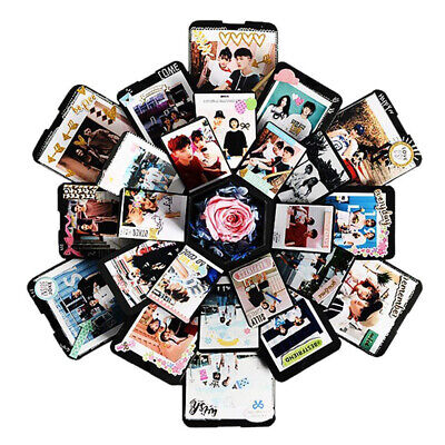 Hexagon Love Memory Multi Layer Surprise Box Photo Album Valentines Day Romantic