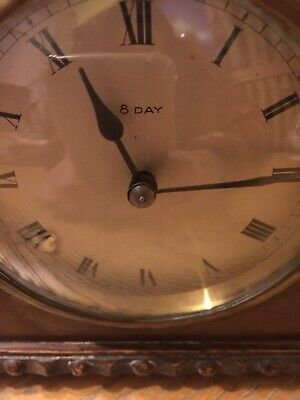 Very Rare Vintage 1920's French 8 Day Mantle Clock Signed. £45.99p No Reserve !
