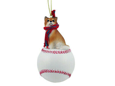 Chihuahua Dog Longhaired Base Ball Baseball Sports Figurine Ornament