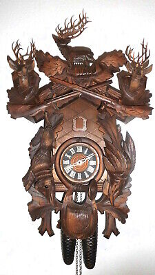 large antique original black forest cuckoo clock anton schneider schönach