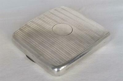 An Antique Solid Sterling Silver Curved Cigarette Case Birmingham 1912 108 Grams