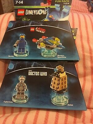 Lego Dimensions 2 Fun Packs.Lego The Movie Bennys Spaceship &  Doctor Who Seale