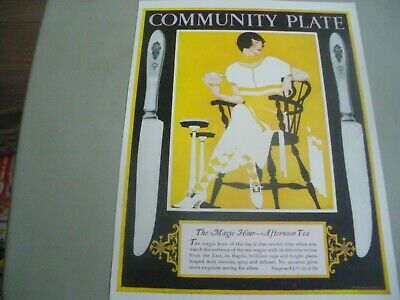 """coles phillips ad 1924 """"community plate"""""""