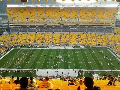 3- 50 Yard Line Pittsburgh Steelers Vs. Cleveland Browns Tickets Sec.511 12/1/19