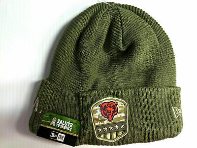 Chicago Bears Knit Hat New Era 2019 On Field Salute to Service Cap NFL