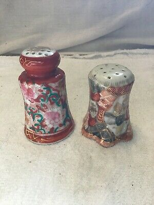 Hand Painted Floral Asian Motif Shakers