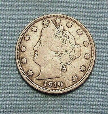 1910 Liberty V Nickel in the GOOD Range A Great Filler Coin DUTCH AUCTION