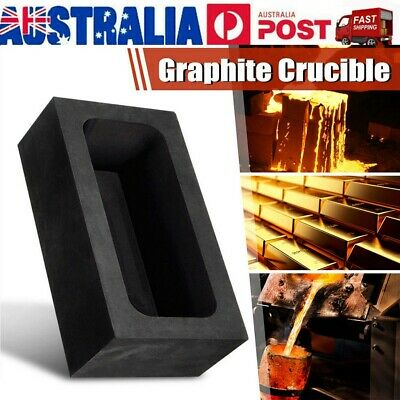Square Graphite Mold Crucible Mould For Melting Casting 85oz Gold / 46oz Silver