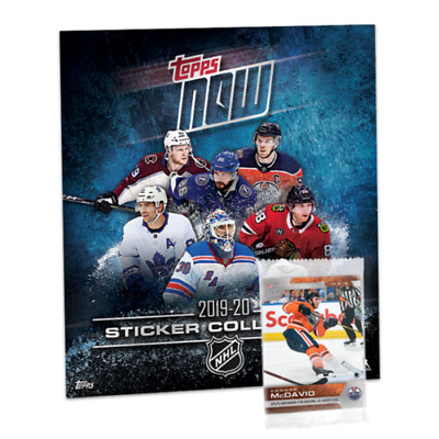 2019-20 Topps NOW NHL HOCKEY WEEK 1 ONE 9 card Sticker Pack w/FREE Album IN HAND