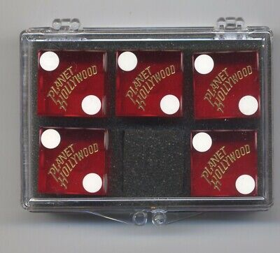Casino Dice (Planet Hollywood-Las Vegas, Nevada) Stick of 5-Matched #128 w/case