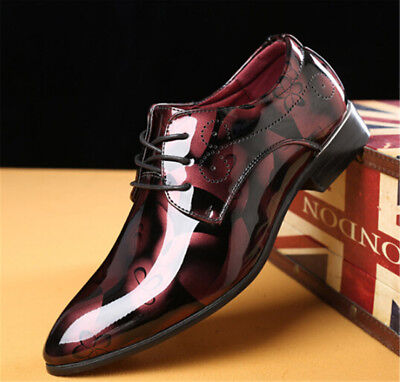 Uk Mens Leather Shoes Slip On Italian Smart Shoes Formal Wedding Office Shoes