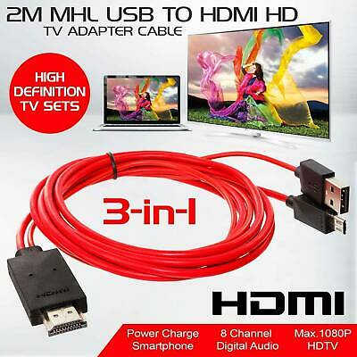 MHL Micro USB to HDMI 1080P HD TV Cable Adapter For Samsung Android Cell Phone~~