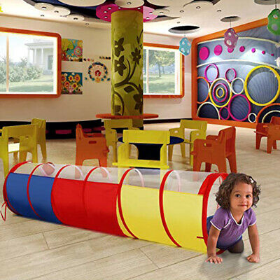 Crawl Through Play Tunnel Toy Pop up Tunnel for Children Indoor Outdoor Tube AM3