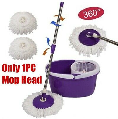 360°Rotating Replacement Microfiber Mop Head Refill Magic Hurricane Spin Mop