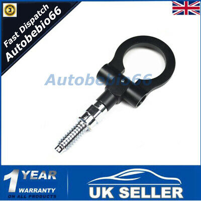 Black Racing Tow Towing Hanger Hook For BMW M E46 E81 E30 European Trailer Ring