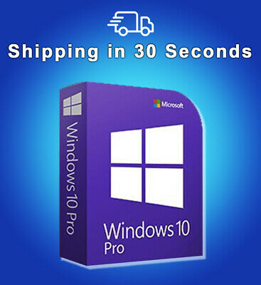 Windows 10 Professional PRO 32 & 64 BIT - Key ACTIVATION CODE LICENSE Microsoft
