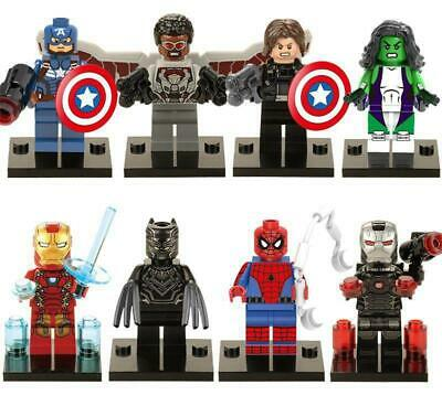 Lot 8 figurines marvel avengers figures blocks compatible lego