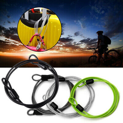 I1B9 100cm x 2mm Cycling Sport Security Loop Cable Lock Bicycle Bikes Scooter U