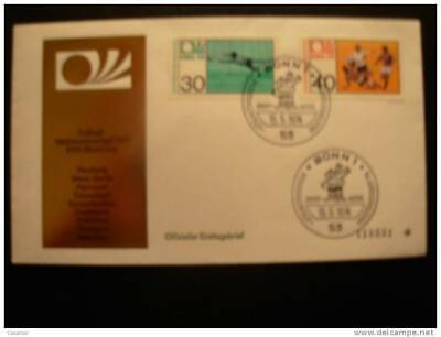 yvert 657-58 Complete Set FDC Bonn Cancel 1974 Germany World Champioship Champio