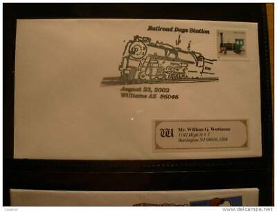 USA Railroad Days Station Williams 2002 Cancel Cover Sobre Enveloppe