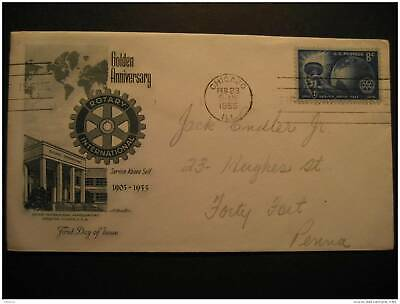 USA Chicago 1955 Rotary FDC Cancel