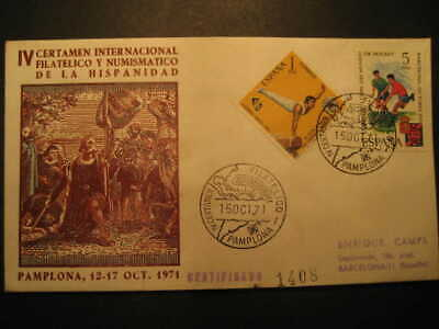 SPAIN Pamplona Navarra 1971 Event Cancel Colon Columbus Caravel America Discouve