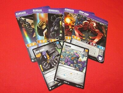 Transformers TCG LOT of 6 DECEPTICONS Set Common Character Cards Megatron Wave 1