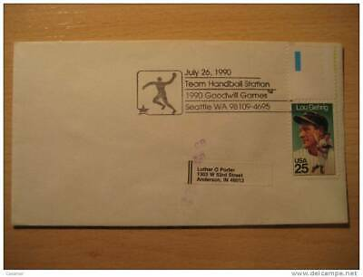USA Seattle 1990 Goodwill Games Handball Balonmano Cancel Cover