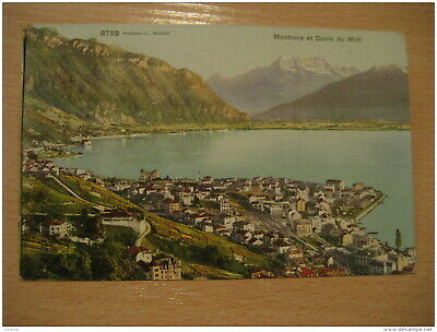 MONTREUX Et Dents Du Midi Mountain Mountains 1906 To Manchester England Post Car