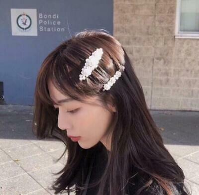 Hot Korean Pearl Hair Clip Hairband Comb Bobby Pin Barrette Hairpin Headdress
