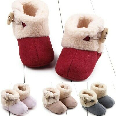Toddler Kid Baby Girls Boots Toddler First Walk Winter  Casual Warm Winter Shoes