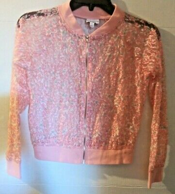 Girls Size L 14-16 Denim /& Lace Moto Jacket Beauty and the Beast by D-Signed NWT