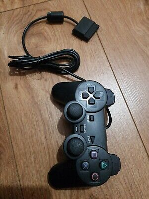Wired Black Dual Shock Controller for PS2 PlayStation Joypad Gamepad (ep1)