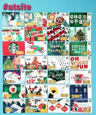 STARBUCKS Cards 2019 - 44 - CHRISTMAS HOLIDAY GIFT CARDS LOT new